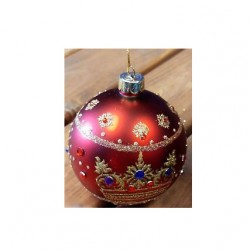 Decoratiune brad glob cu coroana 00124
