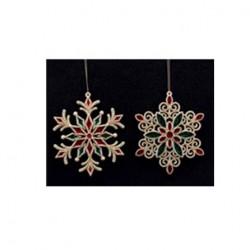 Decoratiune brad snowflake 2as