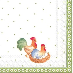 SERVETELE EASTER FARMERS COCKTAIL NAPKINS C742300