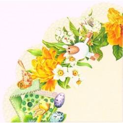SERVETELE RONDO DAFFODIL WREATH CREAM R538560