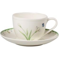 Ceasca cafea cu farfurie Colourful Spring