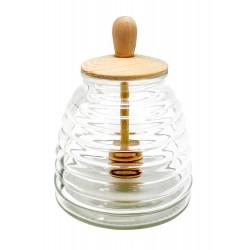 Recipient transparent pentru miere cu picurator,vin bouquet-FIH348