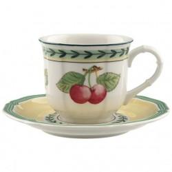 Cana 0.10L espresso cu farfurie 13 cm, french garden-344956