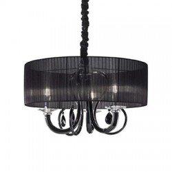 Lustra Swan SP3 nero, Ideal Lux, cod 153148