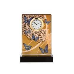 Ceas de birou din sticla, Blue Butterflies, Goebel-316296