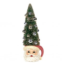 Decoratiune brad Sisal tree santa mug- TR24745