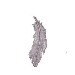 Decoratiune brad pana cu sclipici alba-16453