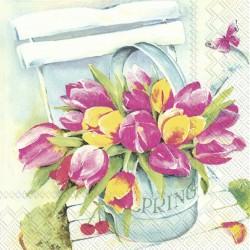 Servetele Spring Tulips IHR- BF847900