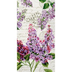 Servetele Lilac letter cream IHR- BF774460