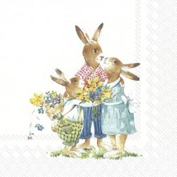 Servetele cu motive pascale L856900, Easter Family