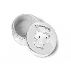 Cutiuta argintata Charmmy Kitty pentru dintisor/mot - 352878