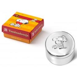 Cutiuta argintata Snoopy pentru dintisor/mot - 350263