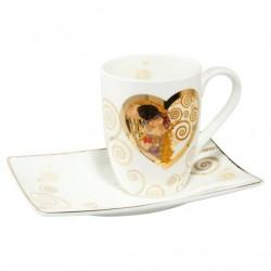 Ceasca cafea cu farfurie Heart Kiss, Goebel- 342578