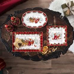 "Platou patrat Toy's Fantasy ""Santa with forest animals""-392755"