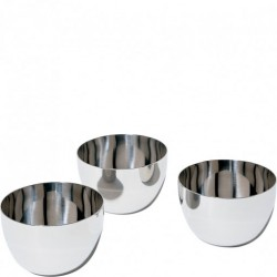 Set de 3 boluri inox Mami, Alessi- SG59