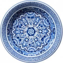 Covor rotund Delft Blue Plate 250 cm - Moooi Carpets