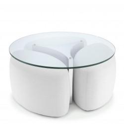 Masuta de cafea cu 3 scaune ovale Modus, Eichholtz -113942