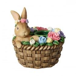 Suport lumanare Bunny in basket, Spring Fantasy Accessories - 394957