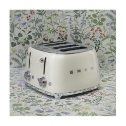 Toaster 4 felii, Smeg, crem, TSF03CREU