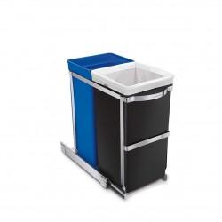 Cos de gunoi cu dubla compartimentare, 35 L- CW1016