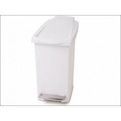 Cos gunoi slim cu pedala, alb, plastic, 10 l Simplehuman, CW1332