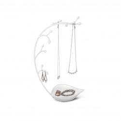 Suport pentru bijuterii Orchid, alb,Umbra, 299340