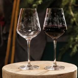 Set 2 pahare vin rosu, Toy's Delight 470 ml, sticla cristalizata- 412699