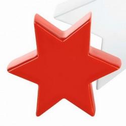 Decoratiune stea mini red shinny, cod 294870