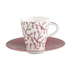 Ceasca espresso cup and saucer caffe club floral berry, cod 487775/487782