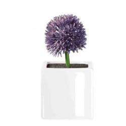 Floare violet allium cu suport din portelan