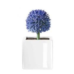 Floare lila flieder allium cu suport din portelan