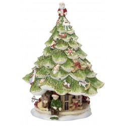Decoratiune portelan X-mas  tree large with children Christmas toys memory