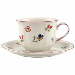 Ceasca cafea cu farfurie Petit Fleur
