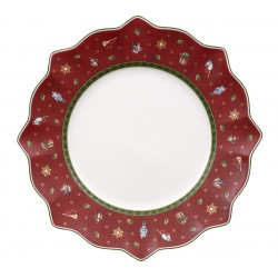 Farfurie intinsa Toy delight flat plate red