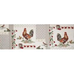 Traversa masa gobelin Rooster patch 32x96