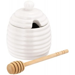 Recipient miere cu lingura din lemn  JFY005
