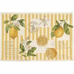 Placemat individual gobelin 32x48 cm Lemons