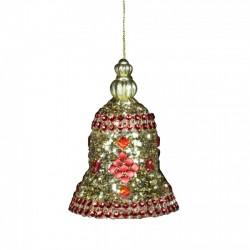 Decoratiune brad clopotel auriu 11681