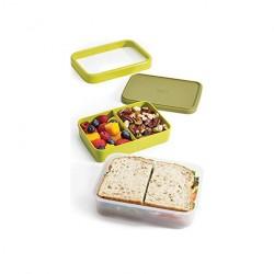 Caserola mic dejun, plastic, 2 in 1, verde- J81031