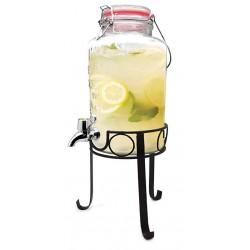 Recipient din sticla cu stand pentru limonada-FIH285