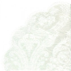 SERVETELE GRANDEUR WHITE RONDON NAPKINS R403690