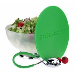 set bol salata si tocator verde Primavera Bugatti
