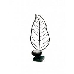 Felinar in forma de frunza Tealight leaf, 24,5 cm-Goebel-331169