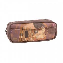 Port-Fard pentru cosmetice piele artificiala 21 x 6 x 8 cm,Gustav Klimt-324567